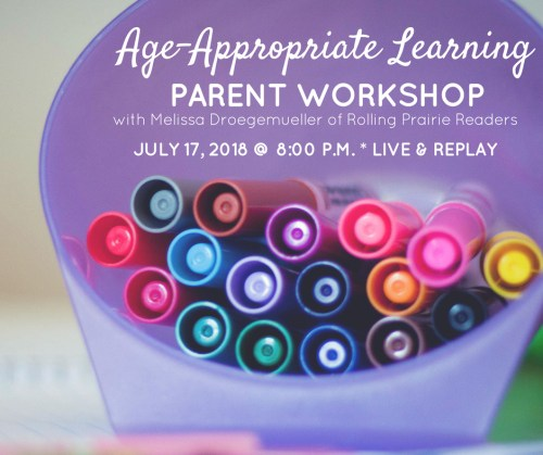 Join us for our Age-Appropriate Learning Parent Workshop!