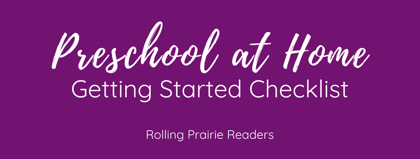 Preschool at Home: Getting Started Checklist