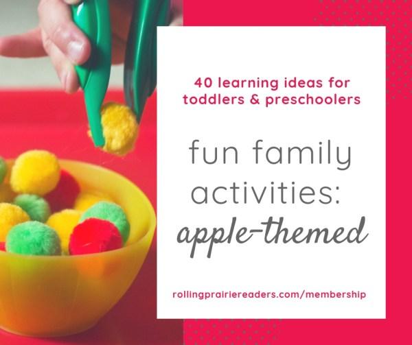 fun family activities: apple-themed