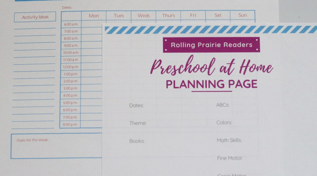 preschool at home schedule templates
