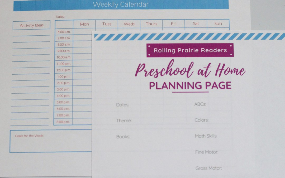 Preschool at Home Schedule {Free Printables}