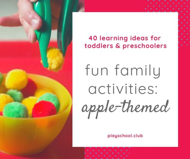 fun family activities: apple-themed