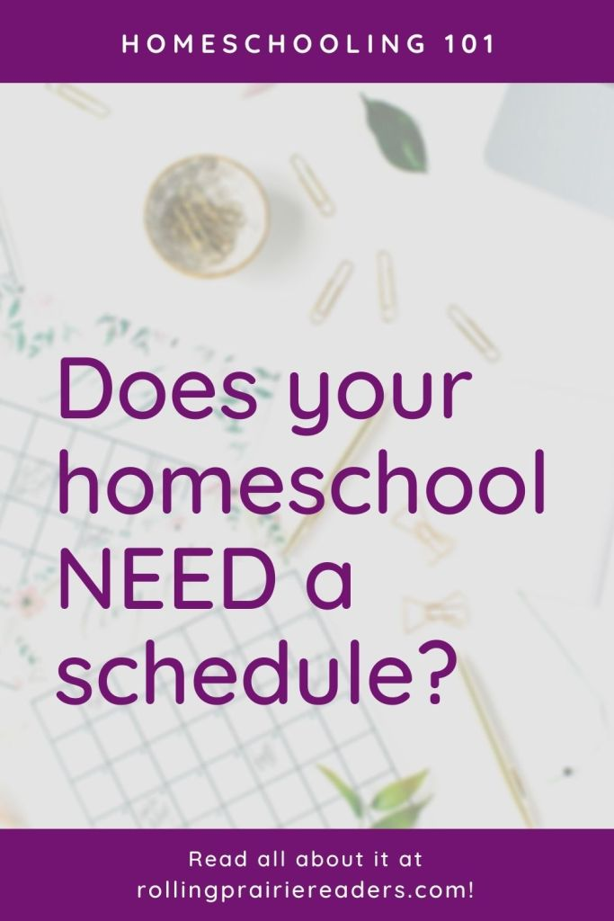 Does your homeschool need a schedule?