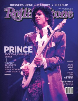 Rolling Stone India's May 2016 Prince tribute cover