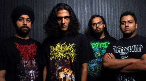 Death grind band Gutslit with former guitarist Dynell Bangera (far left). Photo: Ashish Kamble
