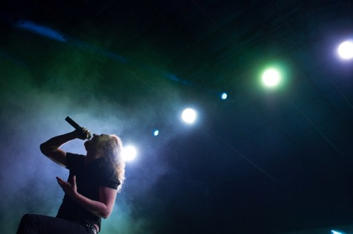 Swedish melodic death metal band Dark Tranquillity's Mikael Stanne. Photo: Prashin Jagger