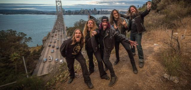 (far right) Gary Holt with Exodus. Photo: Press image