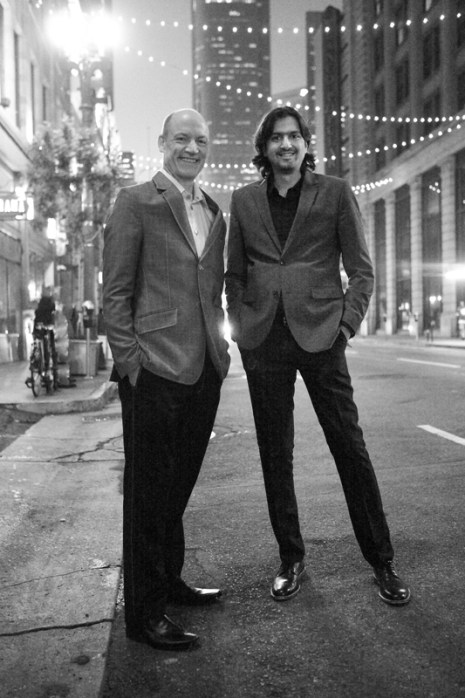 Wouter Kellerman and Ricky Kej. Photo: Courtesy of the artist