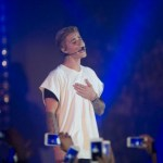 Justin Bieber performs on the stage during the Calvin Klein Jeans event at the Kai Tak Cruise Terminal on 11 June 2015 in Hong Kong, China. Photo by Victor Fraile / studioEAST