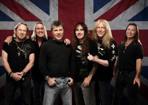 Iron Maiden - Adrian Smith, Nicko McBrain, Bruce Dickinson, Steve Harris, Janick Gers and Dave Murray (from left). Photo: Courtesy of Sony Music India