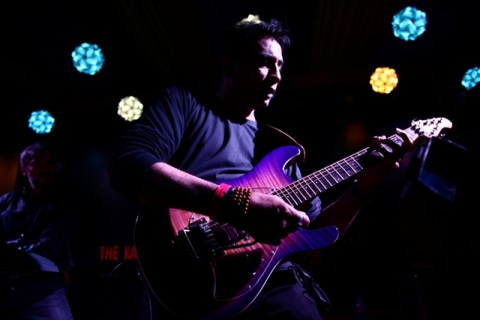 Vocalist/guitarist Philipe Haydon of Ministry Of Blues performs at the 2014 Kasauli Rhythm & Blues Festival.