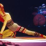 """David Bowie at the Hammersmith Odeon in London, 1973. """"Under the influence of America,"""" Bowie dove deep into the dark side of his glam fantasies on 'Aladdin Sane,' released that same year. Ilpo Musto/REX/Shutterstock"""