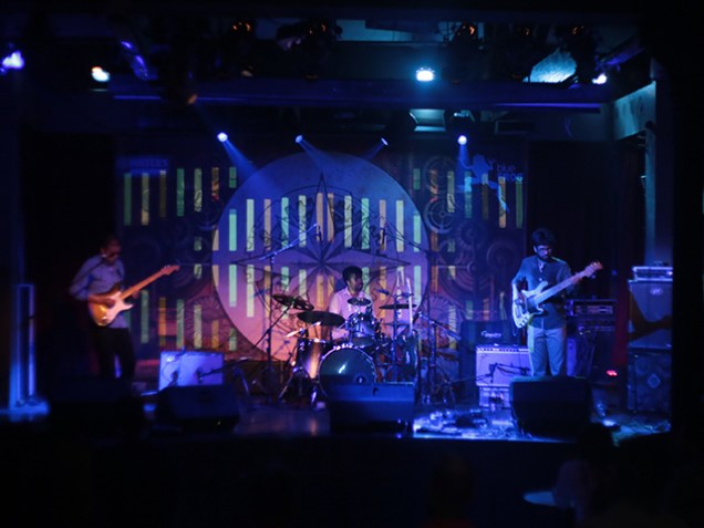The Bodhisattwa Trio launched their second album 'Heart of Darkness' at Blue Frog Mumbai. Photo by Bryan Jacob Daniel.