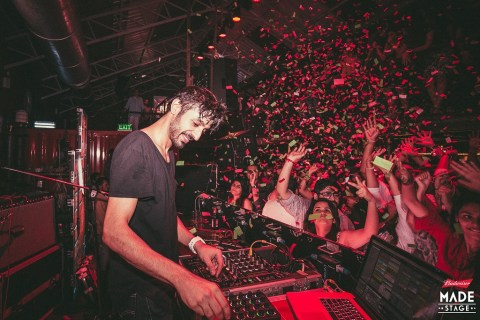 Sahej Bakshi aka Dualist Inquiry performing at Budweiser MADE Stage in Mumbai on July 2nd, 2016.