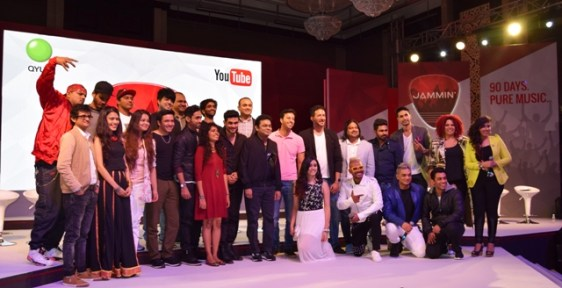 Satya Raghavan, Head of Entertainment, YouTube India, Clinton Cerejo, Salim, AR Rahman, Sulaiman, Mithoon, Samir Bangera, Cofounder MD, QYUKI and the YouTube creators. Photo: Chetna Vaidyanathan for Rolling Stone India