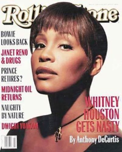 Whitney Houston on the cover of Rolling Stone