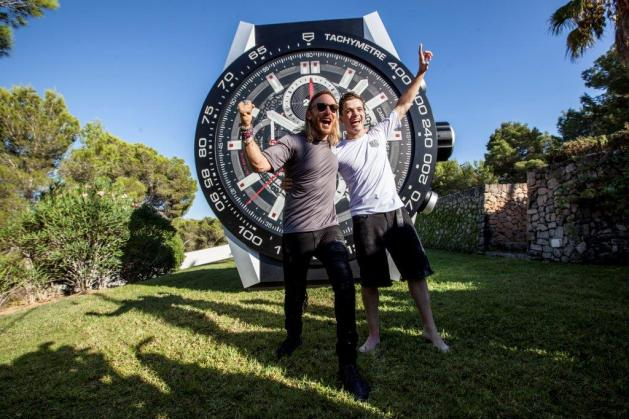 David Guetta and Martin Garrix are Tag Heuer's brand ambassadors, embodying the Swiss watchmakers' #DontCrackUnderPressure motto. Photo: Courtesy of Tag Heuer