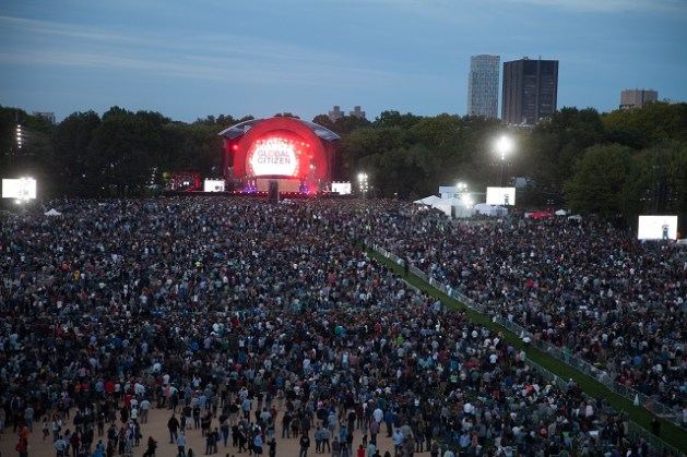 An aerial view of Global Citizen Festival's recent edition in New York City. Photo: Courtesy of Global Citizen