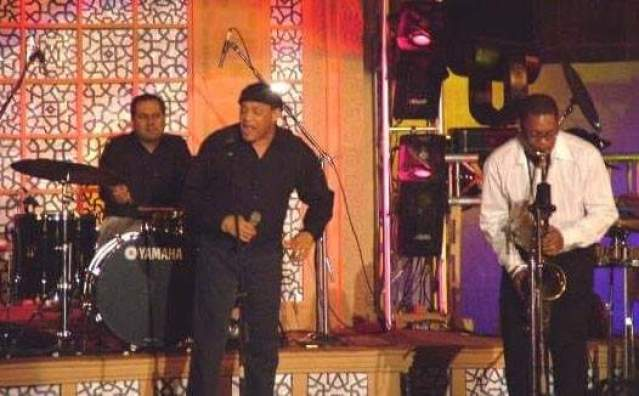 Al Jarreau, Ravi Coltrane on saxophone (son of the legendary John Coltrane) and Adrian D'souza