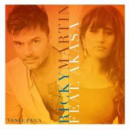 """The artwork for Ricky Martin's """"Vente Pa' Ca"""" featuring Akasa Singh."""