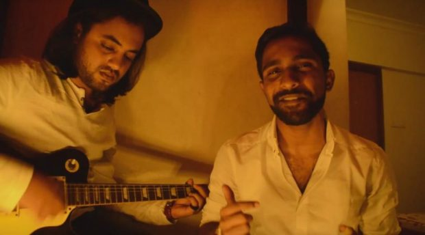 "The music video for ""Love Again"" was shot on Swami's brother's balcony by Mumbai videographer Sanket Ray."