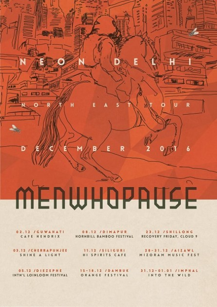 Poster for Menwhopause's North-East tour.