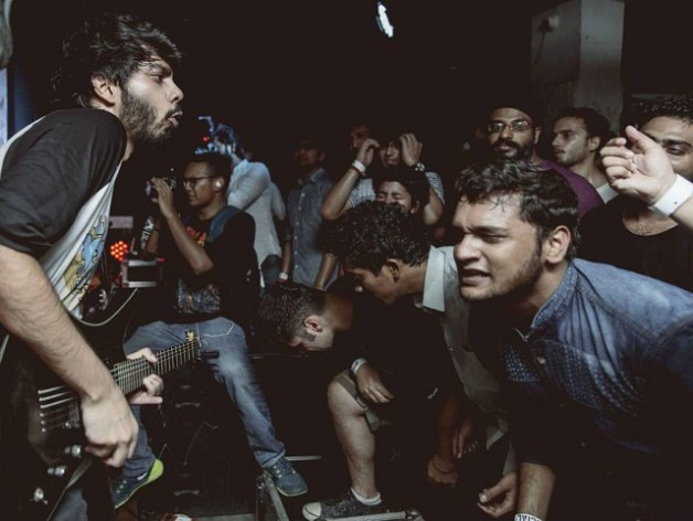Colossal Figures live at the Double Bill in New Delhi in 2016. Photo: Courtesy of the artist