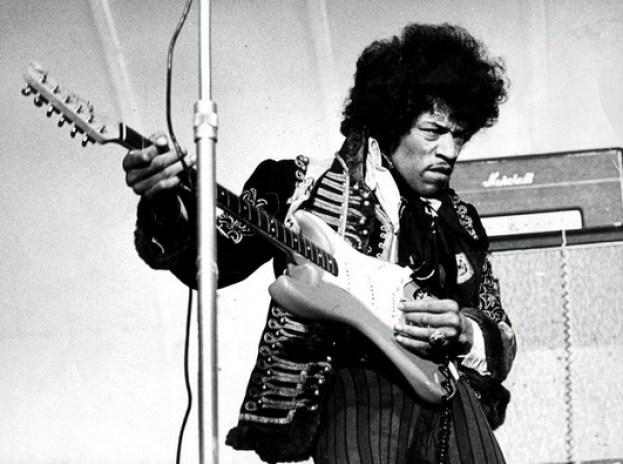 Jimi Hendrix at the amusement park Gröna Lund in Stockholm, Sweden, May 24, 1967. Photo: Press image
