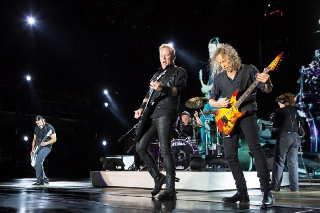 Metallica live at Rock on the Range 2017 in Columbus, Ohio. Photo: Kenny Bahr
