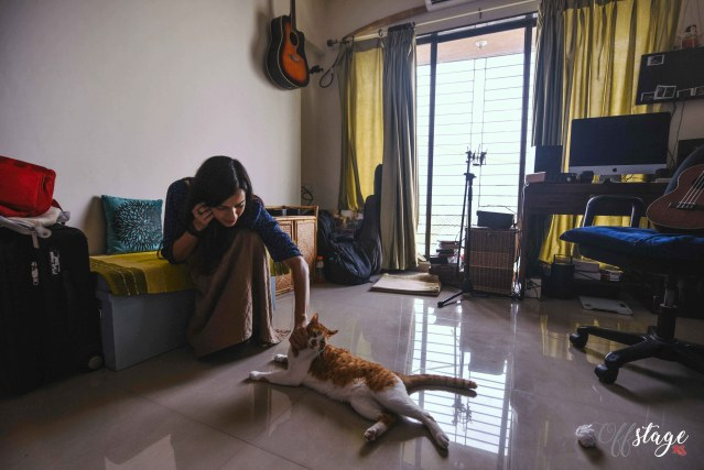 Vasuda Sharma is a feline lover and loves spending time with her cats when not with her instrument of choice--the ukulele. Photo: Swaraj Sriwastav