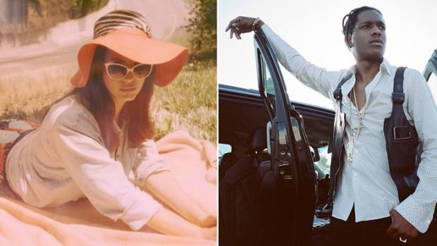Lana Del Rey released two new collaborative tracks with A$AP Rocky from her upcoming 'Lust for Life' LP. Photos: Neil Krug, Dexter Navy
