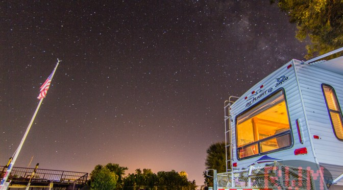 Nighttime Shots of Fenders RV Park in Needles, CA