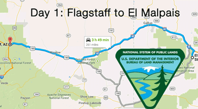 First planned stay: El Malpais National Conservation Area