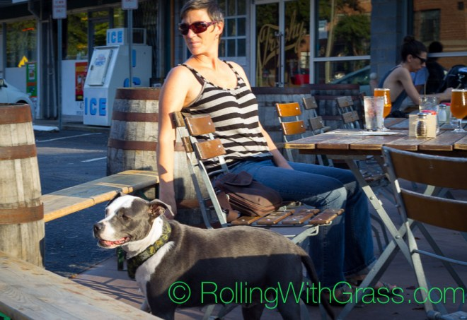 Kate and Dazey Grass of Rolling with Grass at Trophy Brewing Co in Raleigh NC Fall 2014