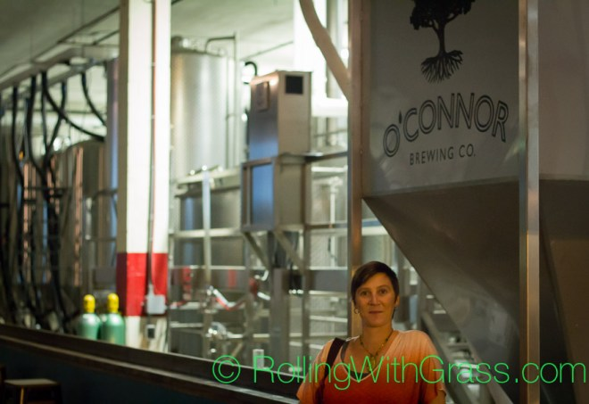 Kate looking cute at oconnor brewing norfolk va rolling with grass oct 2014