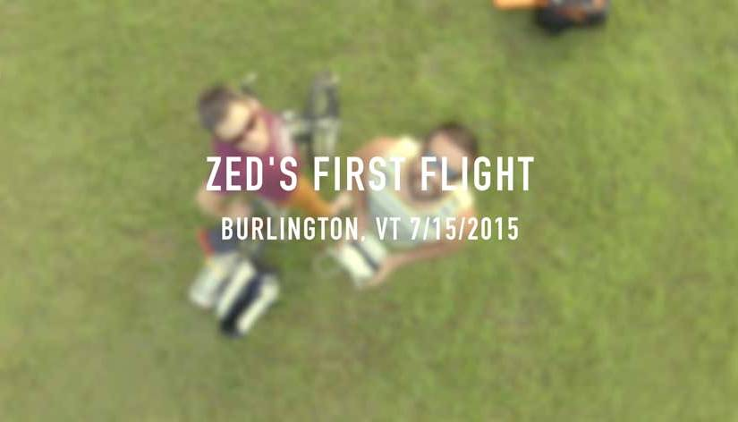 Zed's First Flight – Phantom 3 Pro 4K in Burlington VT