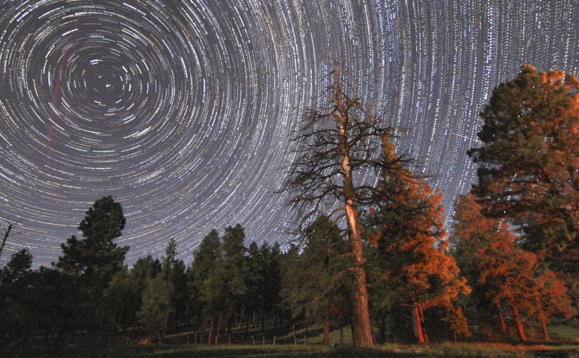 Labor Day Star Trails near Flagstaff AZ Rolling with Grass