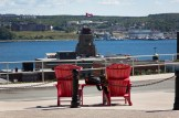 Canada Parks Red Chairs, in front of the Citadel