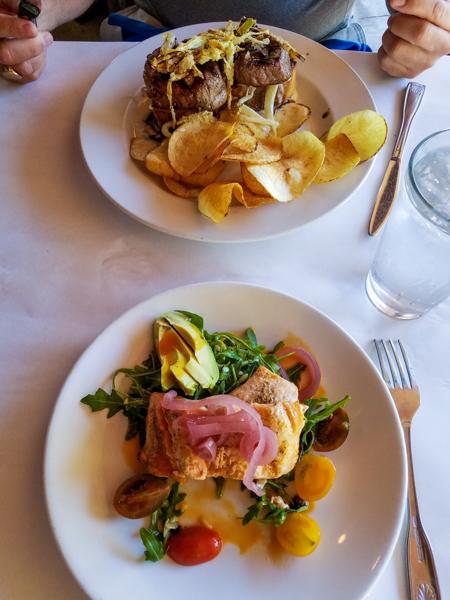 Amazing Salmon and Filet Mignon