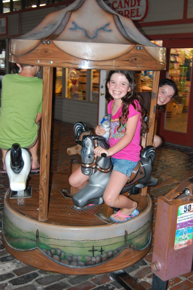 They all had a little ride...what joy 50 cents can bring