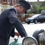 JP Rowe cleaning Peabody, a Rolls Royce 20/25, Rolls Royce Wedding Car