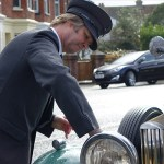 JP Rowe cleaning Peabody, a Rolls Royce 20/25, Rolls Royce Wedding Car