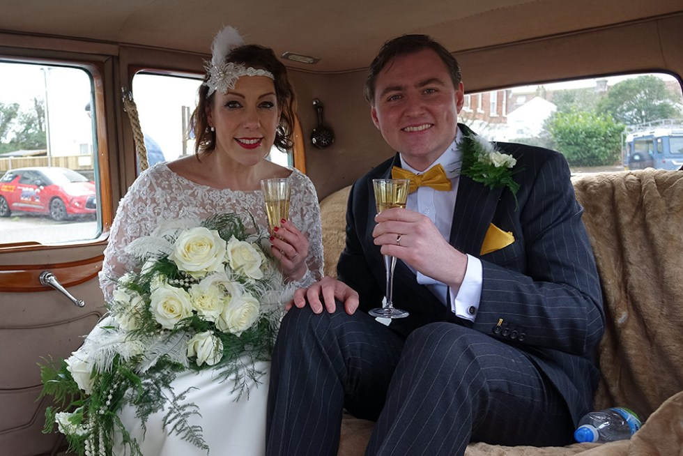 Rolls-Royce Wedding married couple