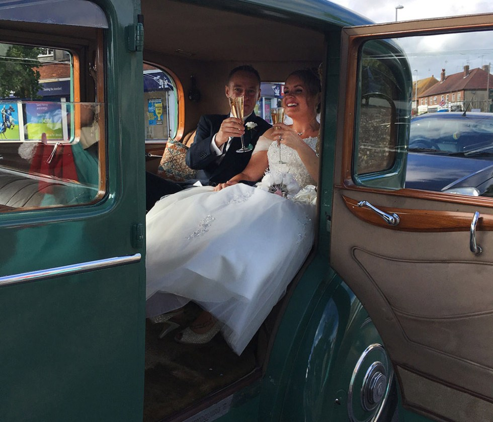 Jennie & Luke Rolls-Royce Wedding with Champagne