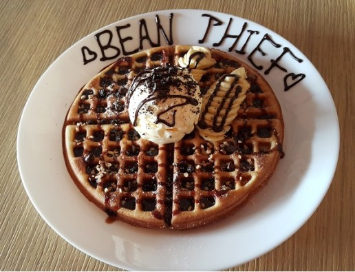Waffles with 2 toppings (RM12.90) – Banana and Chocolate Chip