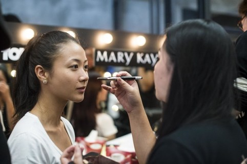 Models during the Mary Kay Dream Beautiful 2014 contest at the Editus on 13 October 2014 in Hong Kong. Photo by Aitor Alcalde / studioEAST.