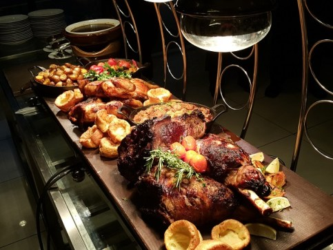 Roasted Chicken, Beef Rib Eye & Bone In Lamb Leg