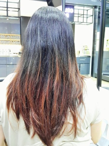 My faded hair colour