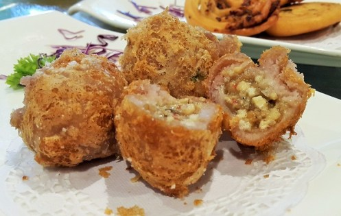 Deep Fried Crispy Yam Puff