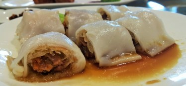 Rice Noodle Roll with Crispy Duck Shredded